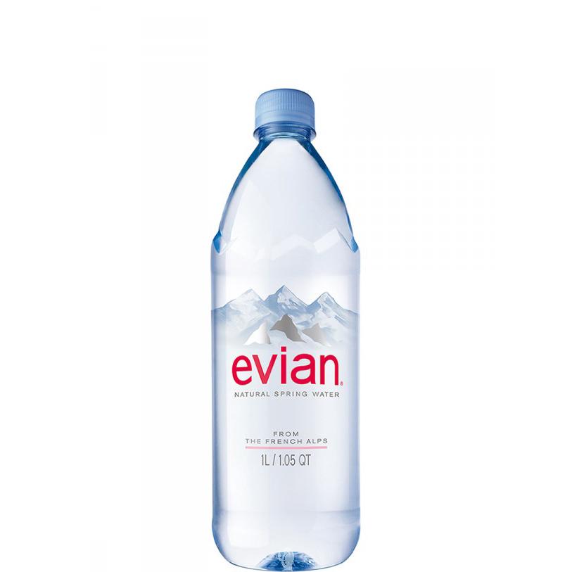 Минерална вода Евиан / Evian 1.0л.