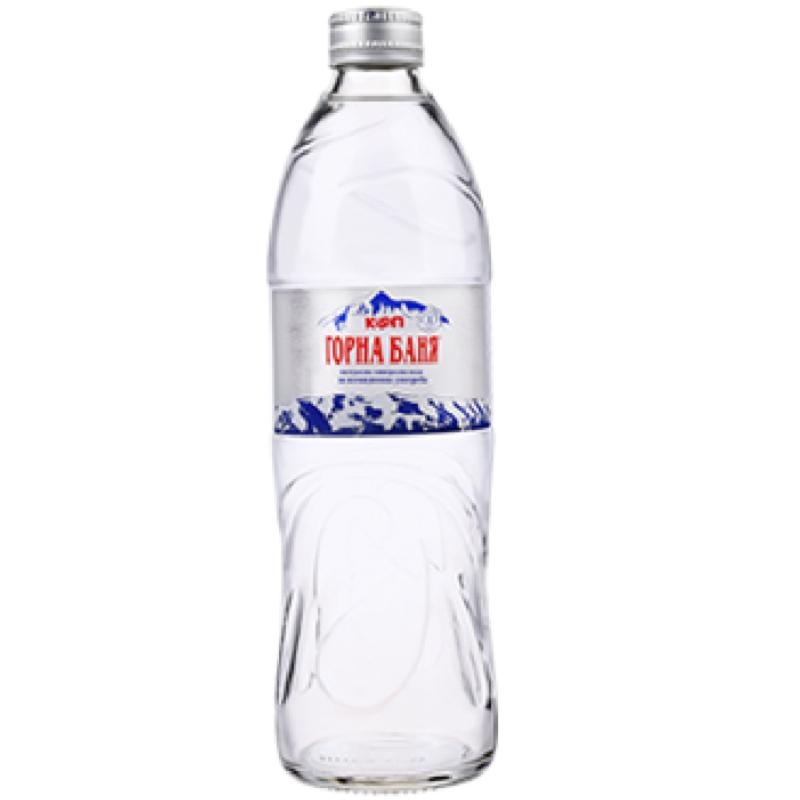 Минерална вода Горна Баня – стъклена бутилка – 0.500л.
