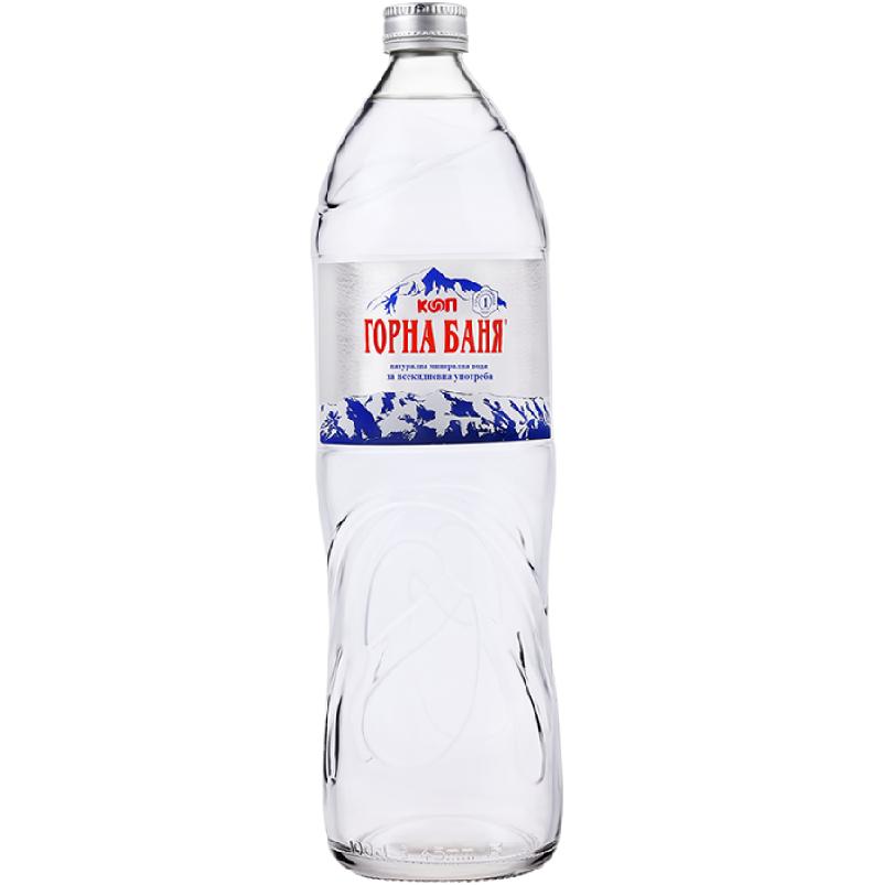 Минерална вода Горна Баня – стъклена бутилка – 1.000л.