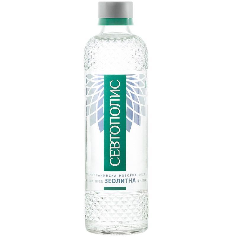 Изворна вода Севтополис – стъклена бутилка – 0.330л.