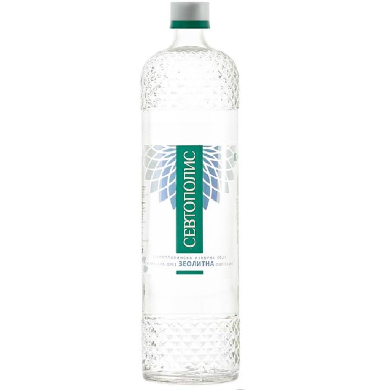 Изворна вода Севтополис – стъклена бутилка – 1.000л.