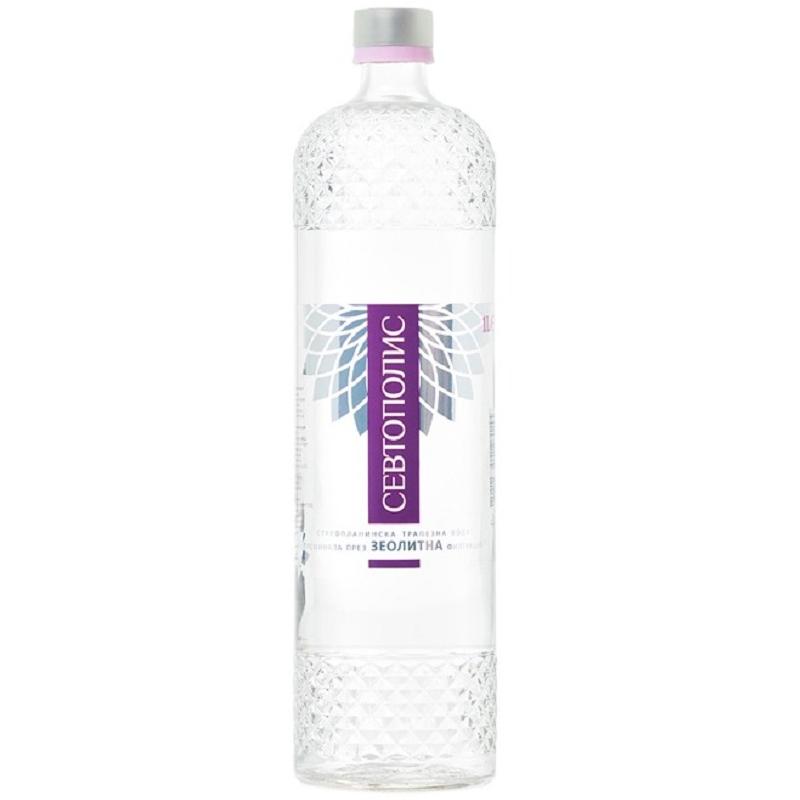 Трапезна вода Севтополис – стъклена бутилка – 1.000л.