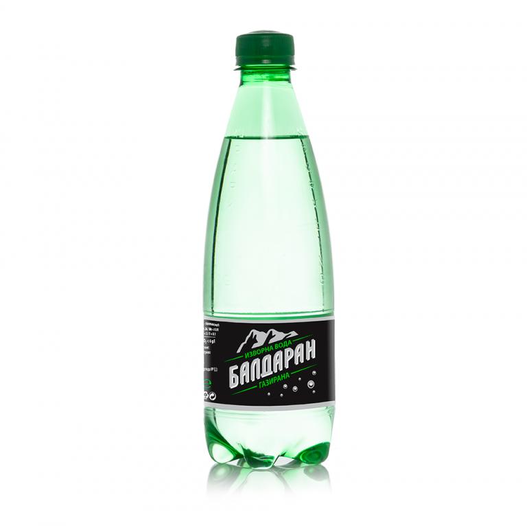 Газирана-Изворна вода Балдаран 0.5л.